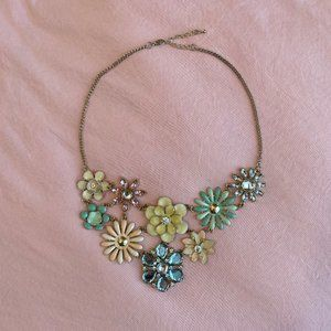 Aldo Pastel Floral Statement Necklace